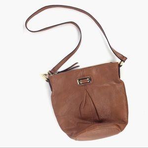 B Makowsky   Tan Leather Shoulder Handbag